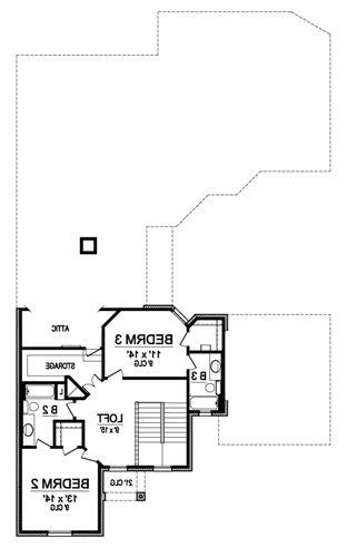 Second Floor image of Featured House Plan: BHG - 4882