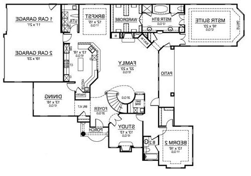 First Floor image of Featured House Plan: BHG - 4883