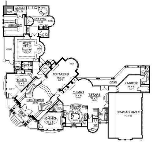 First Floor image of Featured House Plan: BHG - 4703