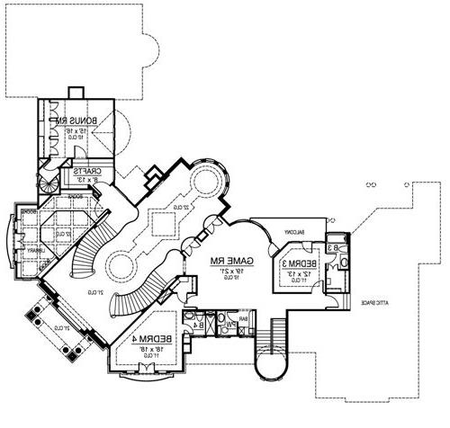 Second Floor image of Featured House Plan: BHG - 4703