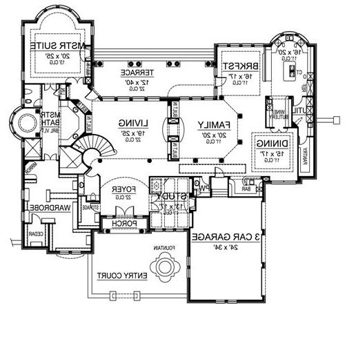 First Floor image of Featured House Plan: BHG - 4875