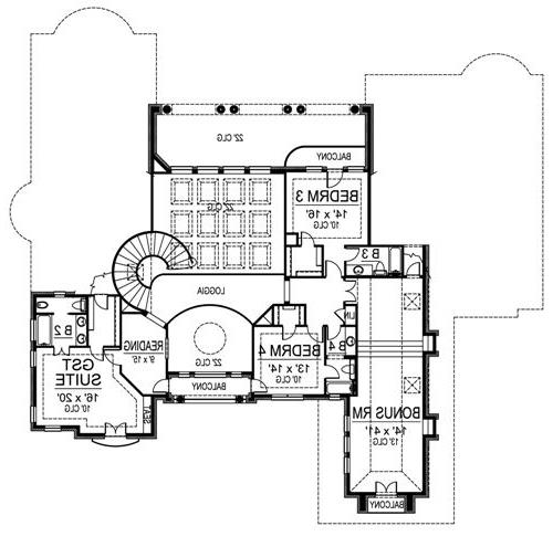Second Floor image of Featured House Plan: BHG - 4875