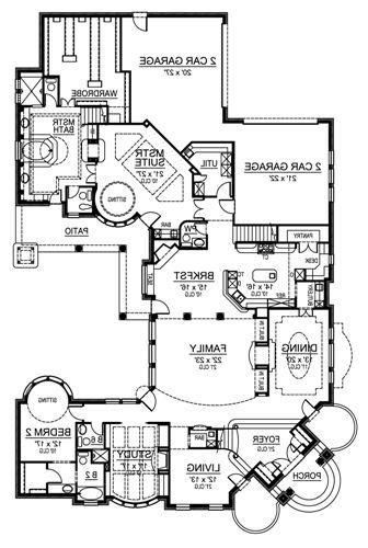 First Floor image of Featured House Plan: BHG - 4897