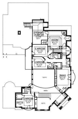 Second Floor image of Featured House Plan: BHG - 4897