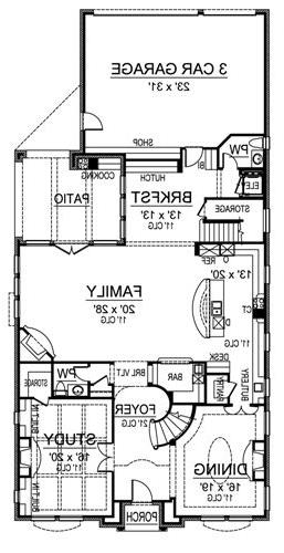 First Floor image of Featured House Plan: BHG - 4898