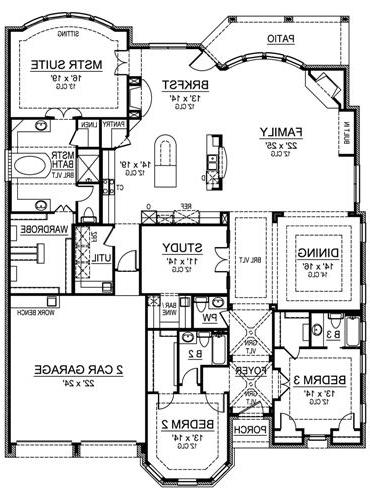 First Floor image of Featured House Plan: BHG - 4899