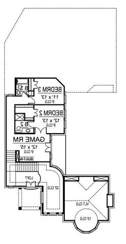 Second Floor image of Featured House Plan: BHG - 4900