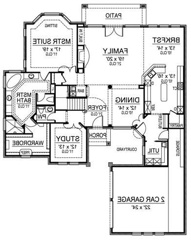 First Floor image of Featured House Plan: BHG - 4901