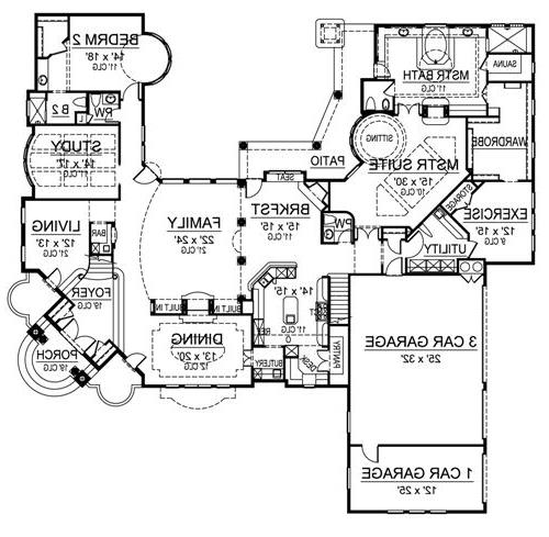 First Floor image of Featured House Plan: BHG - 4701