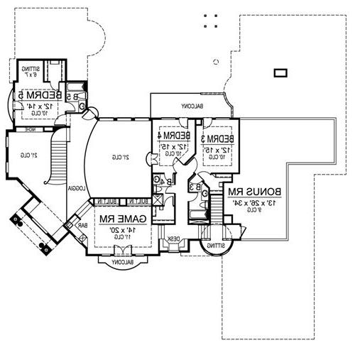 Second Floor image of Featured House Plan: BHG - 4701