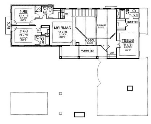 Second Floor image of Featured House Plan: BHG - 4903