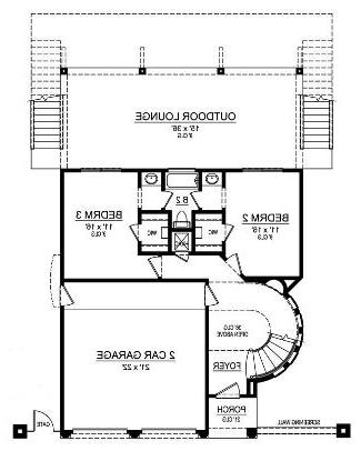 First Floor image of Featured House Plan: BHG - 5286