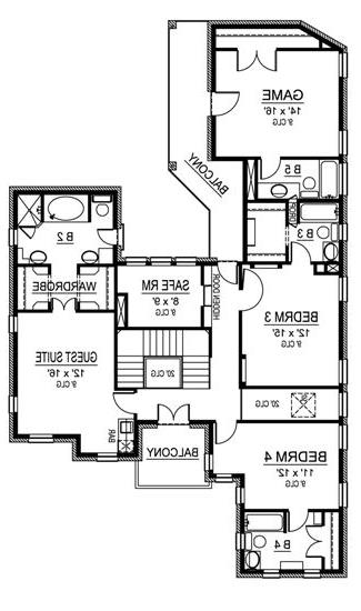 Second Floor image of Featured House Plan: BHG - 4536