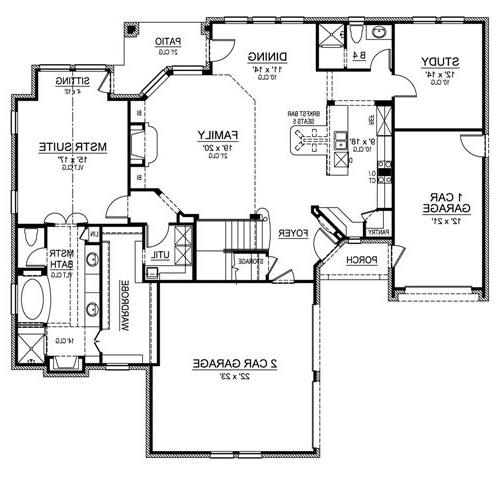 First Floor image of Featured House Plan: BHG - 4806
