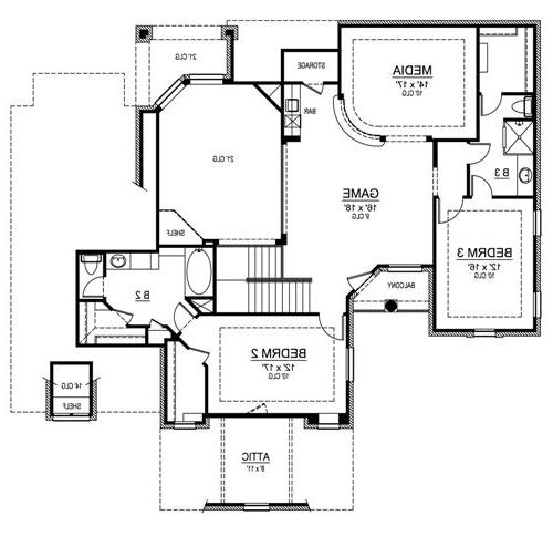 Second Floor image of Featured House Plan: BHG - 4806