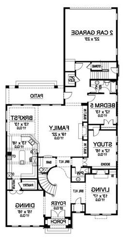 First Floor image of Featured House Plan: BHG - 5209