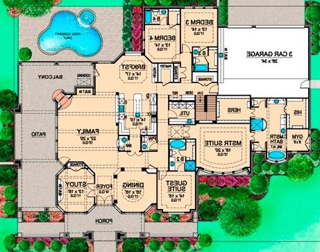First Floor 2 image of Featured House Plan: BHG - 4941