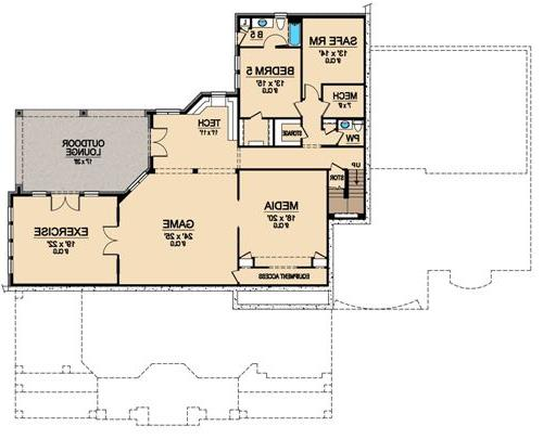 Lower Floor 2 image of Featured House Plan: BHG - 4941