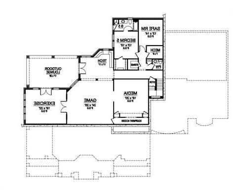 Lower Floor 1 image of Featured House Plan: BHG - 4941