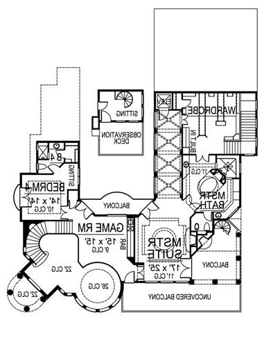 Second Floor image of Featured House Plan: BHG - 4749