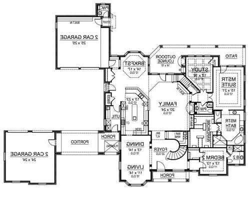 First Floor image of Featured House Plan: BHG - 4675
