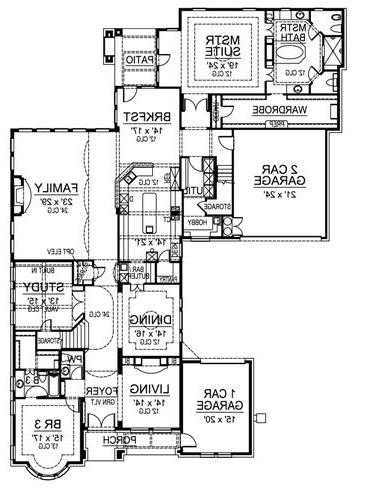First Floor image of Featured House Plan: BHG - 4478