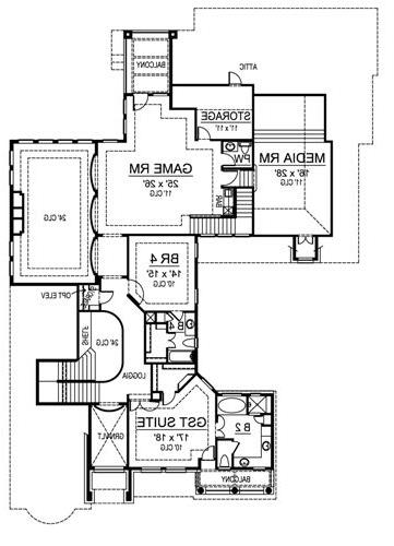 Second Floor image of Featured House Plan: BHG - 4478