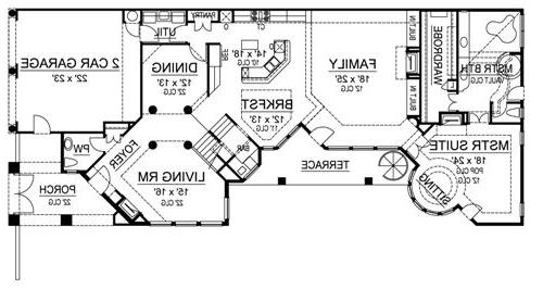 First Floor image of Featured House Plan: BHG - 4479