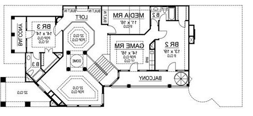 Second Floor image of Featured House Plan: BHG - 4479