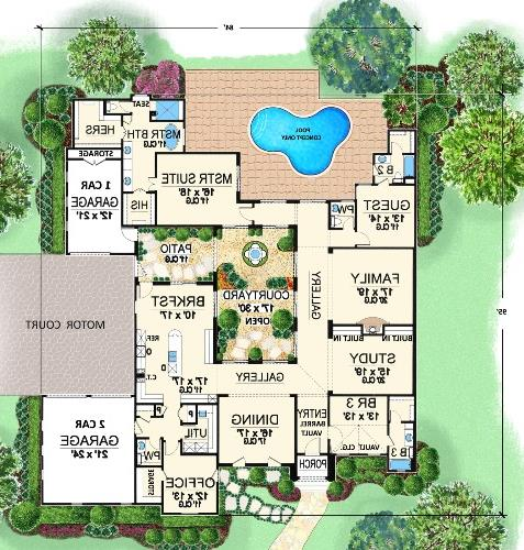 First Floor image of Featured House Plan: BHG - 4480