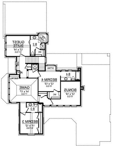 Second Floor image of Featured House Plan: BHG - 4949