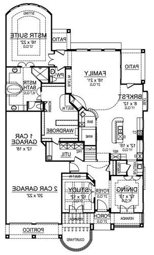First Floor image of Featured House Plan: BHG - 4533