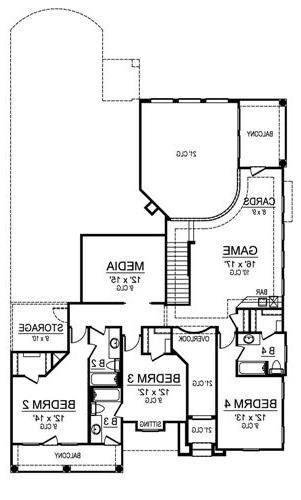 Second Floor image of Featured House Plan: BHG - 4533