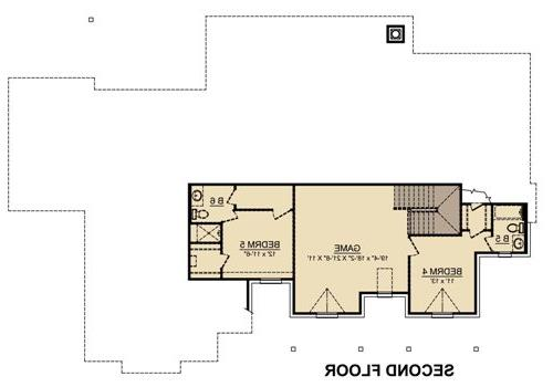 Second Floor image of Featured House Plan: BHG - 4847