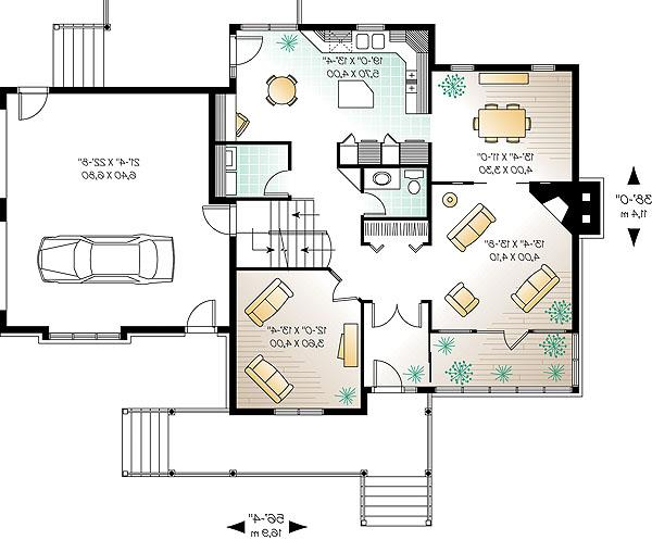 First level image of Featured House Plan: BHG - 1148