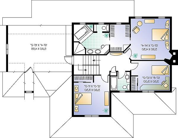 Second level image of Featured House Plan: BHG - 1148