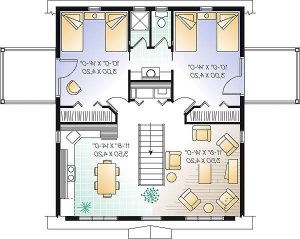 Second level image of Featured House Plan: BHG - 1158