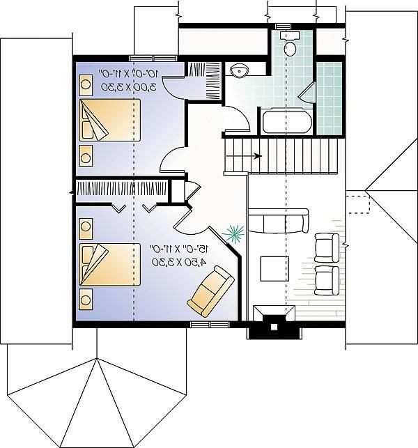 Second level image of Featured House Plan: BHG - 1160