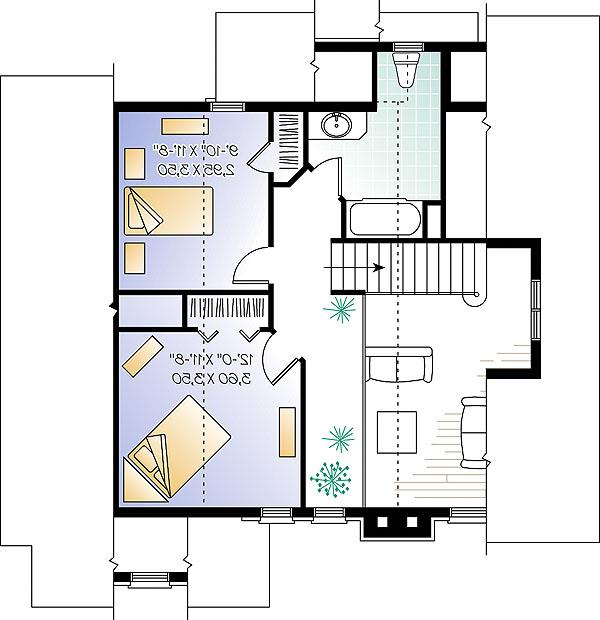 Second level image of Featured House Plan: BHG - 1142