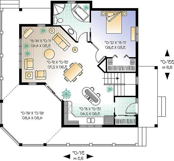 First level image of Featured House Plan: BHG - 1199