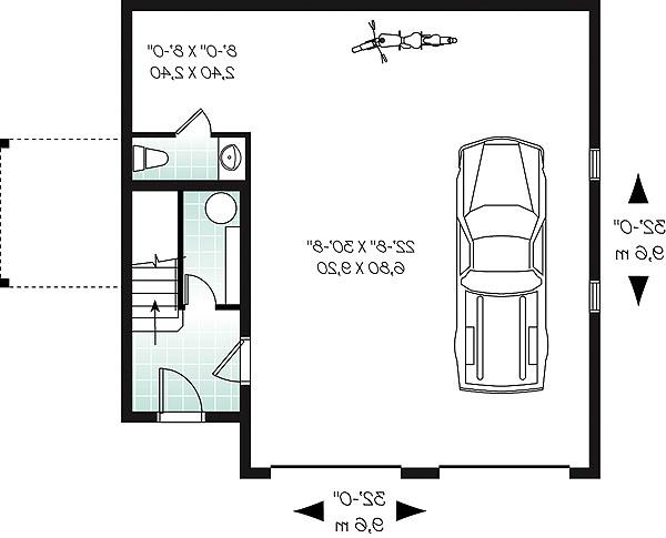 First level image of Two-car garage with apartment