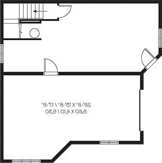 Basement image of Featured House Plan: BHG - 4651