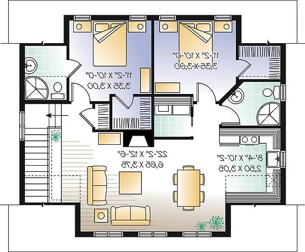 Second level image of Featured House Plan: BHG - 1154