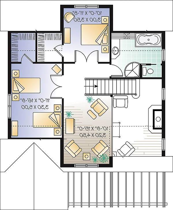 Second level image of Featured House Plan: BHG - 1190