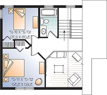 Second level image of Featured House Plan: BHG - 4558