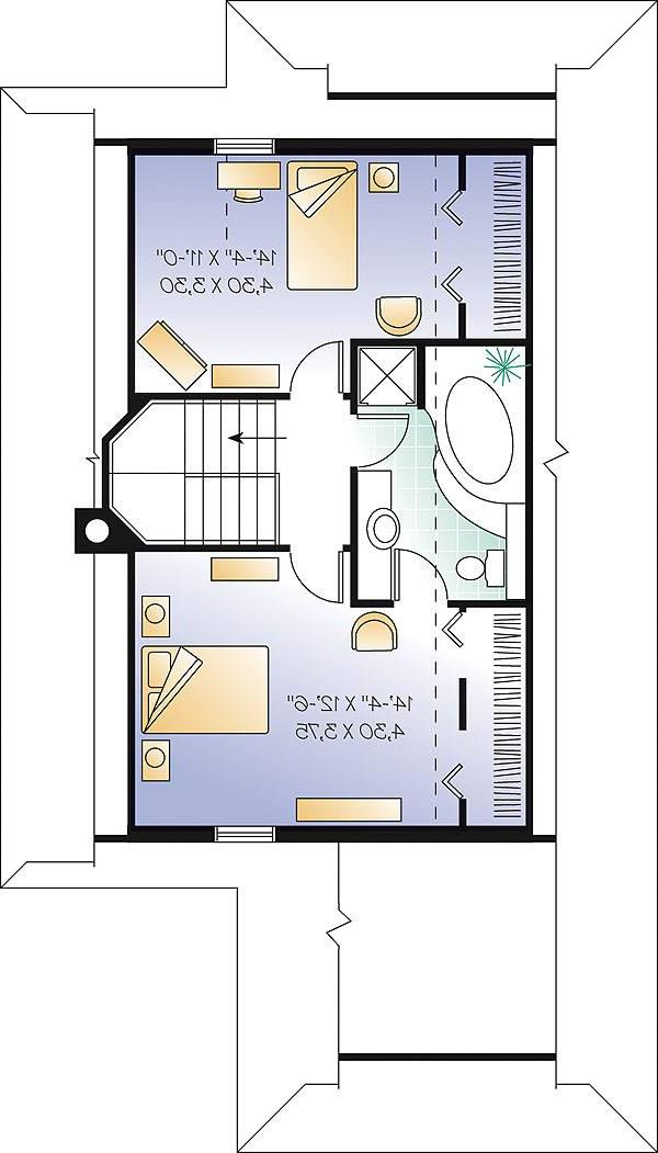 Second level image of Featured House Plan: BHG - 1164