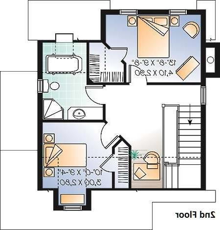 2nd Floor Plan image of Featured House Plan: BHG - 6094