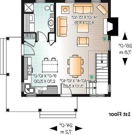 1st Floor Plan image of Featured House Plan: BHG - 6094