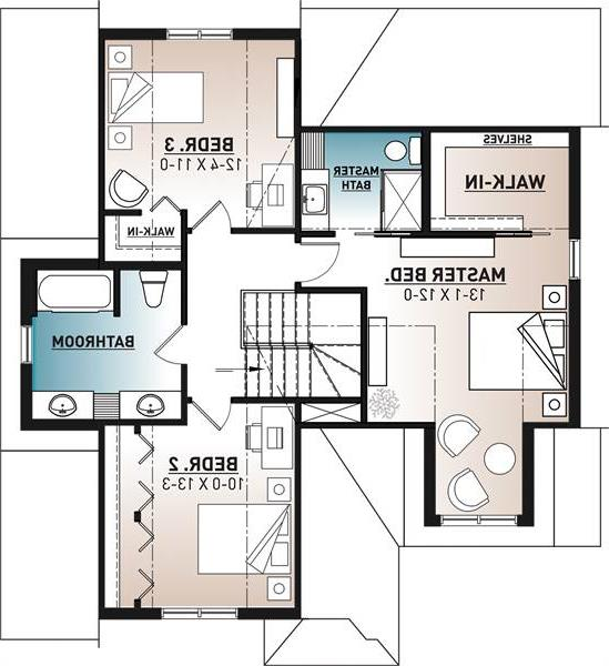 2nd floor image of Featured House Plan: BHG - 6368