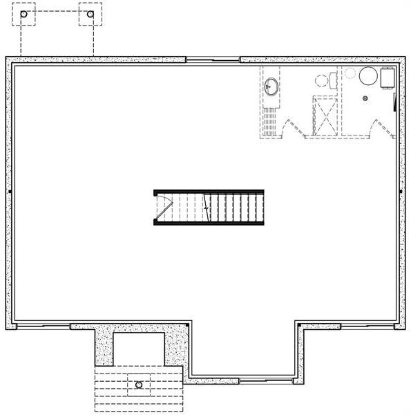 Basement image of Featured House Plan: BHG - 6565
